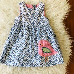 Mini Boden Bird Appliqué Dress 🐦
